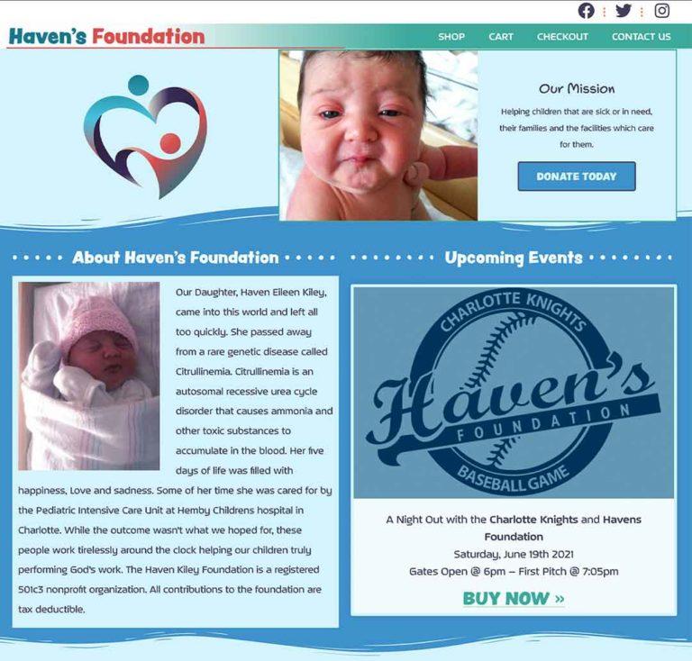 Havens Foundation Website Screenshot - havensfoundation.org